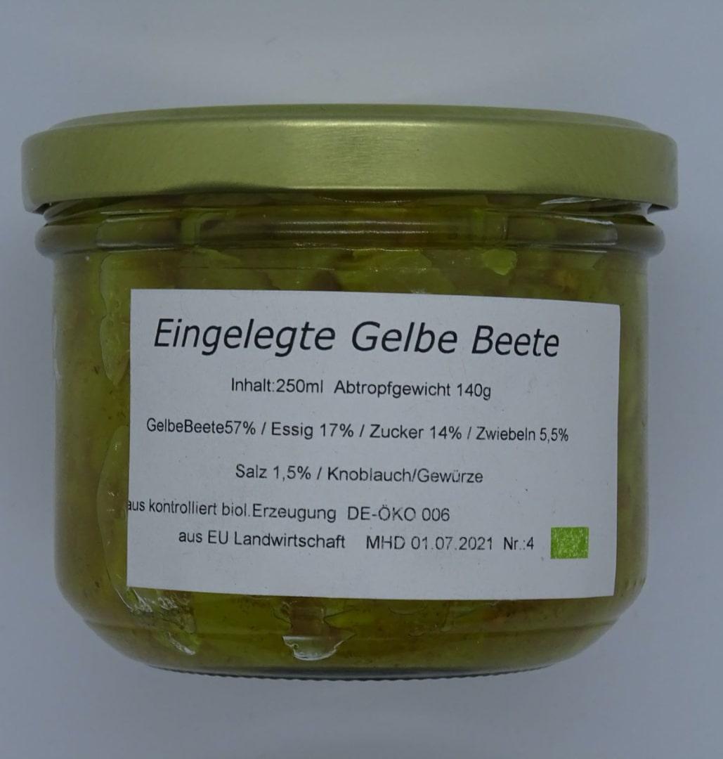 Eingelegte GELBE Beete - 250g